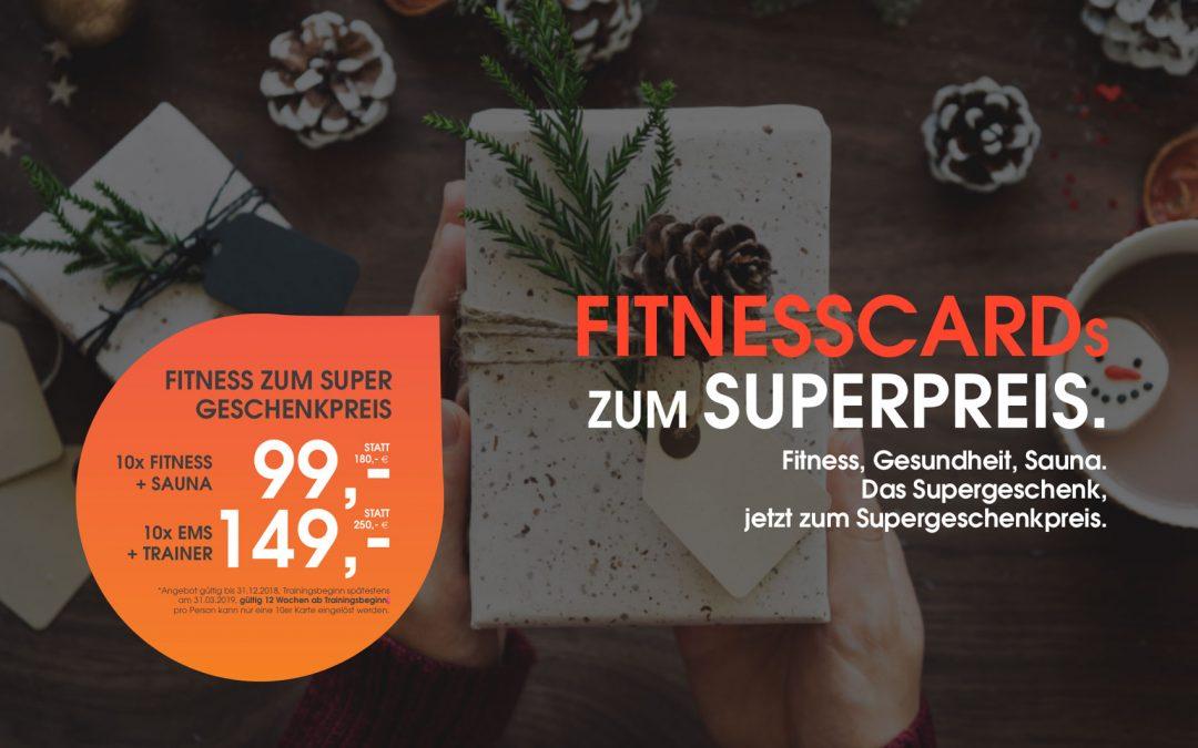 DAS SUPERGESCHENK: FITNESS ZUM SUPERPREIS